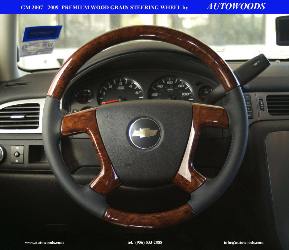 wood grain steering wheel manufacturer accessory chevy gmc. Black Bedroom Furniture Sets. Home Design Ideas
